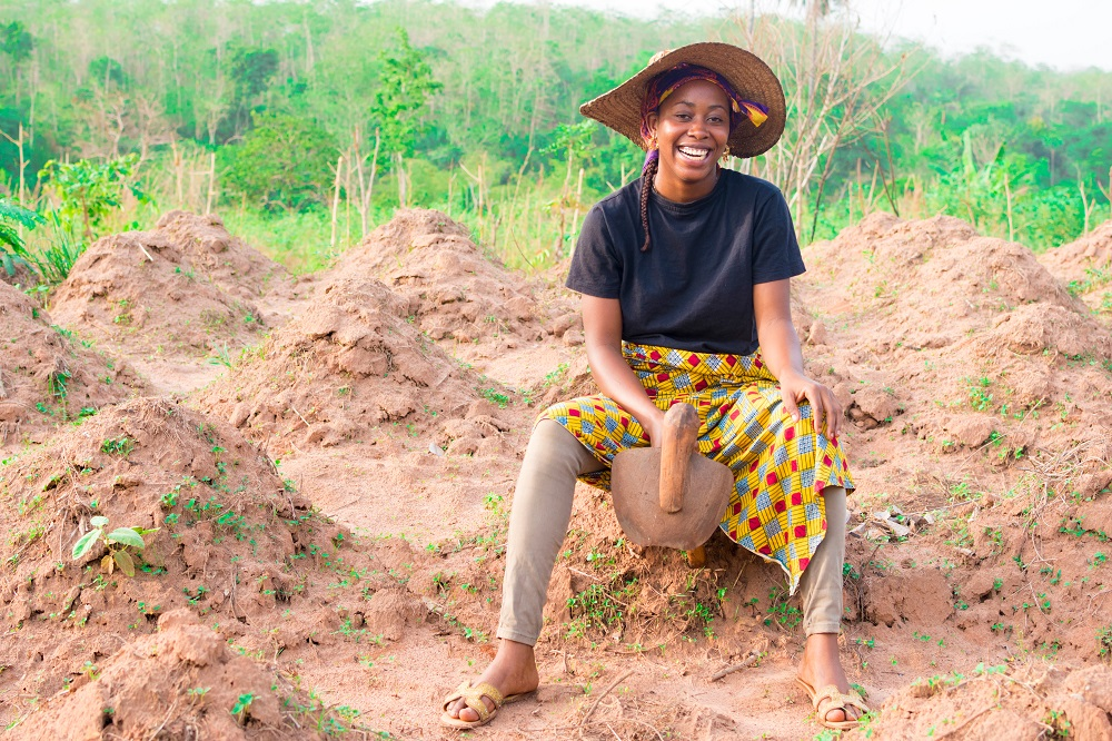 women in agriculture - woman on a farm