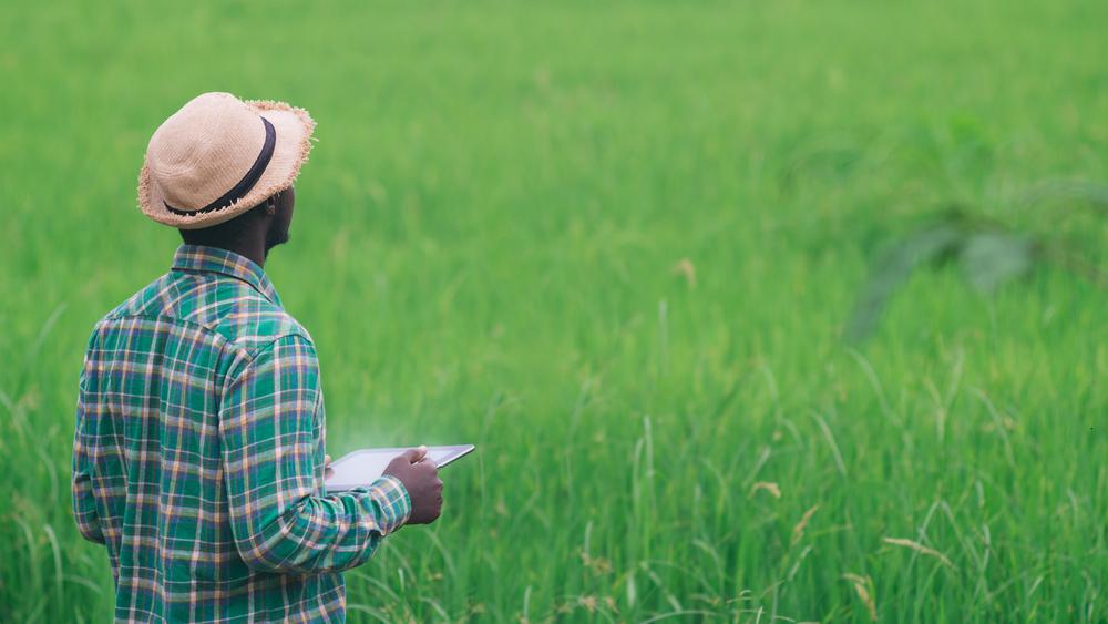 Artificial intelligence in farming -farmer-on-a-field